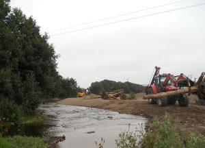 """Engineered Log Jams"" under construction"