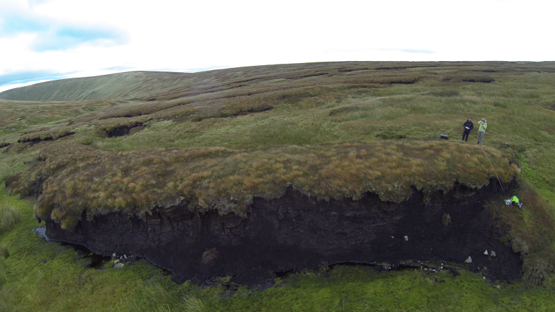The scale of the problem, a colossal eroding peat hagg